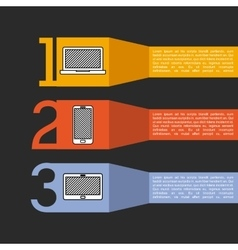 Wearable technology infographic isolated icon vector