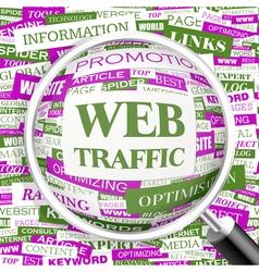 WEB TRAFFIC vector