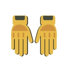 yellow gloves protection fireman elements vector image