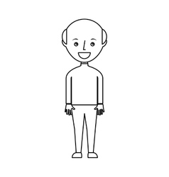 young man bald avatar character vector image