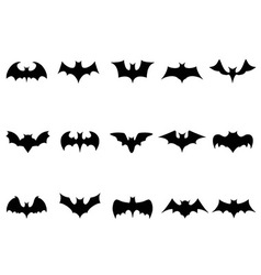 bat icons vector image
