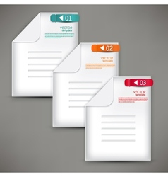 Empty paper sheet with colorful numbered bookmarks vector image vector image