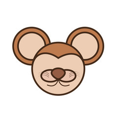 face mouse cartoon animal vector image vector image
