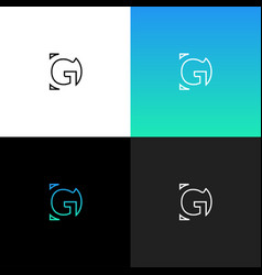 logo gd linear logo of the letter d and g vector image