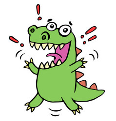 Lucky smiling dinosaur vector