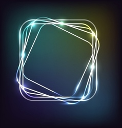 Neon background with rounded rectangle vector image