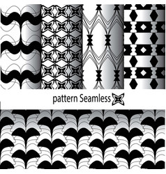 pattern design in black and white vector image vector image