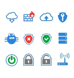 Simplus series icon set Network connections and vector image