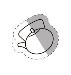 vintge coffee kettle line vector image