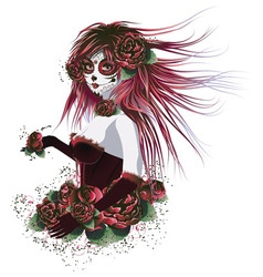 Day of Dead Girl3 vector image vector image