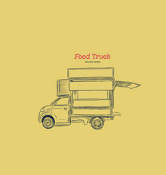 food truck carnival hand draw sketch style vector image vector image