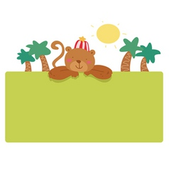 monkey page vector image
