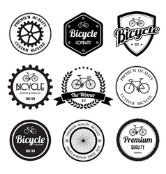 Set of bicycle retro vintage badges and labels vector