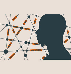 tags cloud schizophrenia relative brochure vector image
