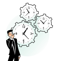 Time gear vector image