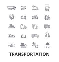 transportation truck logistic transport car vector image