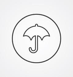 umbrella outline symbol dark on white background vector image