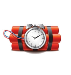 bomb clock timer isolated vector image