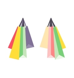 Shopping bag isolated vector image