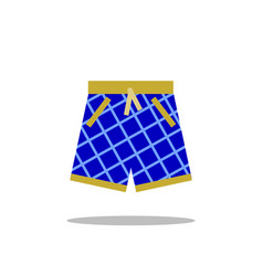 swimming shorts icon isolated on white vector image vector image