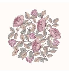 Hand drawn rose garden vector image vector image