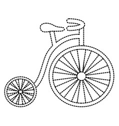 old fashioned bike vector image vector image