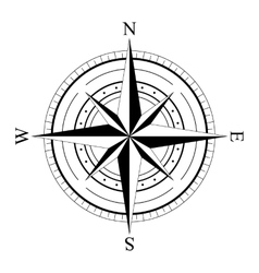 Wind rose compas vector image