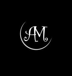 A m letter logo abstract designa m letter logo vector