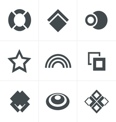 Abstract Icons Set Design vector image