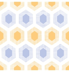 Abstract purple yellow honeycomb fabric textured vector image