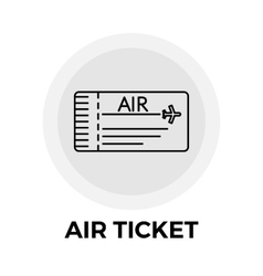 Air Ticket Icon vector image