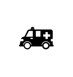Ambulance car solid icon healtcare sign vector