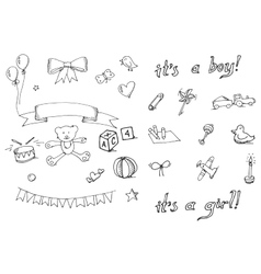 Badoodle icons set vector