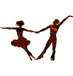 Ballroom couple vector image