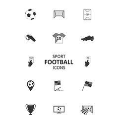 Basic soccer or football icons set vector