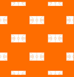 basketball field pattern seamless vector image