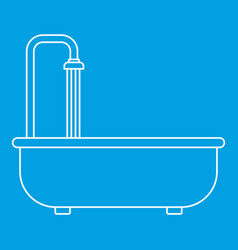 bathroom icon outline style vector image