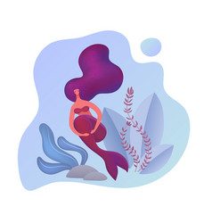 beautiful young abstract mermaid siren vector image