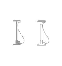 Bicycle pump icon grey set vector