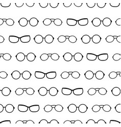 Black and white drawing glasses accessories vector