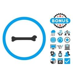 Bone Flat Icon with Bonus vector