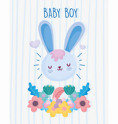 boy or girl gender reveal its a boy flower floral vector image