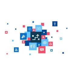 Brand promotion infographic 10 steps pixel design vector