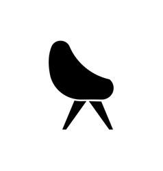 Chair black glyph icon vector