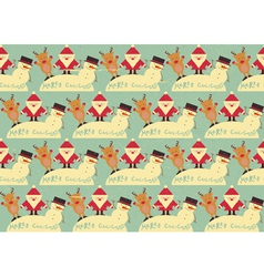 Christmas Seamless Vintage background vector image vector image