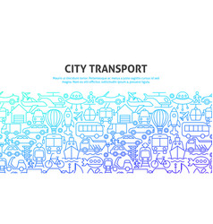 city transport concept vector image