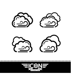 cloud with wind icon vector image