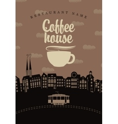 Coffee houses of the old town vector