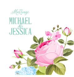 congratulation card with roses vector image