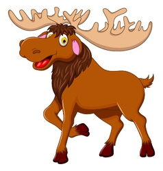 cute moose cartoon for you design vector image
